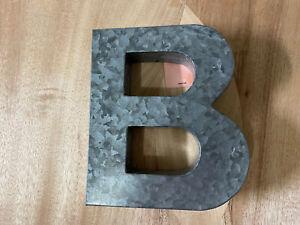 """9"""" Rustic Vintage Letter B Metal Sign"""