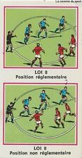 N°397 LES LOIS DU JEU DU FOOTBALL # STICKER PANINI FOOTBALL 1977