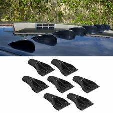 7PCS VORTEX GENERATOR FLEXIBLE PP EVO-STYLE ROOF SHARK FINS SPOILER WING KIT