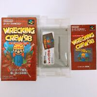 WRECKING CREW 98 Nintendo Super Famicom SFC SNES Japan Game