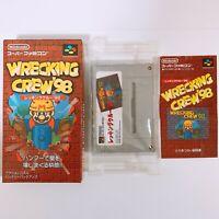 WRECKING CREW 98 Nintendo Super Famicom SFC SNES Japan Game