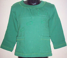 New 100% Cotton Boys Girls Jumper Sweater Age Large L 8-10 Years Green