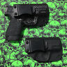 """XDS 3.3"""" 9/45 / XDS 4"""" Kydex IWB Holster For Crimson Trace Laser Viridian"""