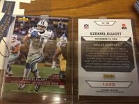 2016 Panini Instant NFL #208 Ezekiel Elliott Cowboys RC SP ROOKIE CARD 1 of 212