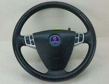 SAAB 93 9-3 LEATHER DRIVERS STEERING WHEEL WITH AIRBAG 12796742 12789426