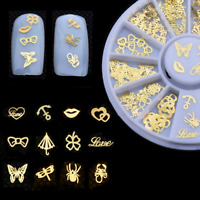 3D Gold Decal Stickers DIY Nail Art Decor Tips Stamping Manicure Stickers Wheel