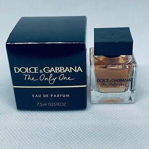 Dolce & Gabbana The Only One  Eau De Parfum Splash Mini 0.25 oz / 7.5ml NIB
