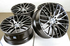 17x7.5 5x114.3 5x100 Black Wheels Fits Accord Hyundai Elantra Tiburon 5 Lug Rims
