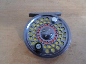 "Orvis 3"" Battenkill 2 Grey Metal Trout Fly Fishing Reel & 4 Floating Line Unused"