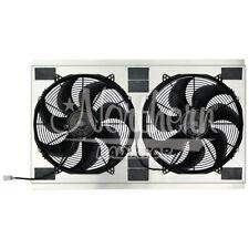 "Dual High CFM 16"" Electric Fan & Shroud 2001-2005 CHEVROLET 2500 & 3500 WITH 6.6"