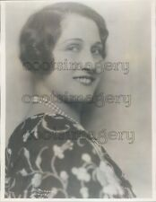 1929 Soprano Radio Singer Adele Vasa 1920s Press Photo