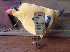 Primitive Fat Lil GOLDFINCH bird birdie Free-Standing Ornie Shelf Sitter