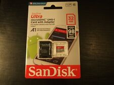 ScanDiskUltra microSDHC UHS-1 Card with adaptor. Unopened. Brand new. 32GB