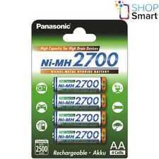 4 PANASONIC Ni-MH 2700mAh RECHARGEABLE AA R6 BATTERIES HIGH CAPACITY 1.2V NEW