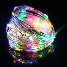 10M USB 100LED Silver Wire String Fairy Lights Strip Lamp Xmas Party Waterproof