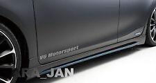 V6 MOTORSPORT Vinyl Decal door sticker Racing Sport  SILVER