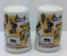 CALIFORNIA STATE Vtg 50-60's Souvenir Salt Pepper Shaker Ceramo Studio Bear
