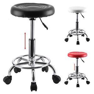 Adjustable Salon Beauty Spa Massage Stool Swivel Chair Hairdresser Tattoo Round