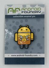 HI-VOLTAGE COLLECTIBLE ENAMEL LAPEL PIN ANDREW BELL ANDROID FOUNDRY