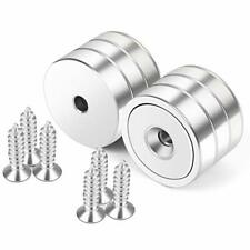 6 Pack Magnets Hole 100 Lb Strong Round Cup Magnets Wall Heavy Duty Screw Wood