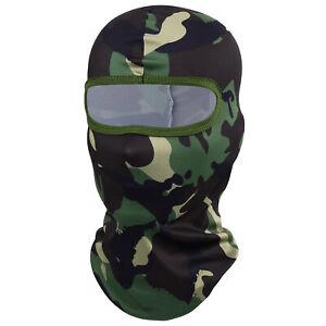 Outdoor Camo Tactical Balaclava Full Face Mask Military Hat Shooting Hunting Cap