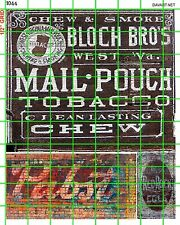 1044 DAVE'S DECALS LARGE HO O S MAIL POUCH PBR OLD BUILDING SIGN ADVERTISING SET