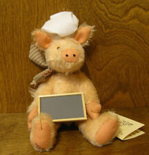 River Hills OINK PIG CHEF jointed Mohair LE by Edda Seiple NEW from Retail Store