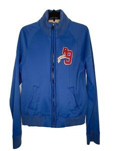 Ruehl Track Jacket Mens Medium Blue No 925 Full Zip Rare