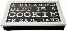 Vintage Quote Lap Tray ~ 43X32 White Laptray With A Bean Bag Base