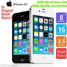 """3,5""""Apple iPhone 4S IOS 16GB 3G 1080P DualCore Mobile Teléfono Original Unl"""