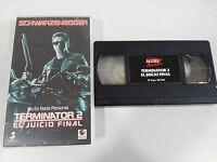 Terminator 2 das Jüngste Gericht VHS Kassette Tape Sammler Arnold Schwarzenegger