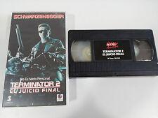 TERMINATOR 2 EL JUICIO FINAL VHS CINTA TAPE COLECCIONISTA ARNOLD SCHWARZENEGGER
