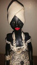 Rare Tiago Pottery Sculpture Figure of African American Woman