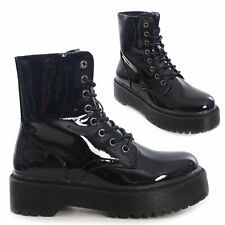 Botas Militares Mujer Botines Zapatos Plataforma Muj Motociclista Toocool CR0531