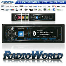 Alpine CDE-178BT coche estéreo unidad principal radio Bluetooth CD AM FM USB MP3 Aux Ipod