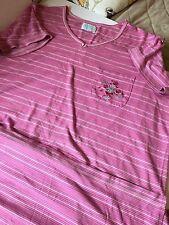 Women's Sleepwear Ashley Taylor 3X Nightgown Pink Striped Long 019-38