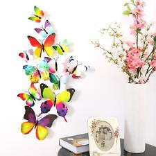 12pc 3D Colorful Butterfly Wall Sticker Magnet Art Decal PVC Home Room DIY Decor