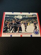 Oilers 1990-1991 Score 1990 Stanley Cup Champions #331