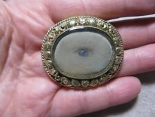 Georgian Gold Gilt Lover's Eye/Momento Mori Miniature Painting Brooch/Pendant