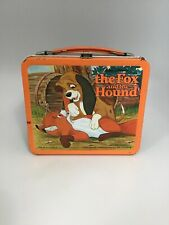 1981 The Fox And The Hound Metal Lunchbox With Thermos