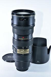 Nikon Zoom-NIKKOR 70-200mm f/2.8 SWM AF-S VR IF ED G Lens (MF Only, VR=Good)