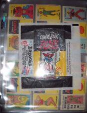 1966 COMIC BOOK FOLDEES  CARD SET & WRAPPER TOPPS  *BATMAN, SUPERMAN, BABE RUTH*