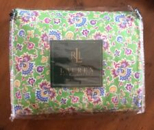 Rare Ralph Lauren Hampton Beach Club Green Paisley Queen Bed Skirt New Old Stock