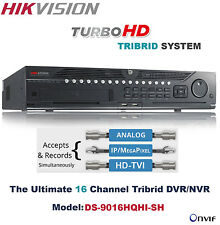 Hikvision 16CH HD-Turbo Tribrid DVR System-Support/Analog/TVI/IP
