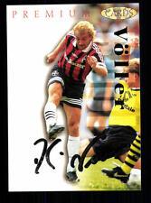 Rudi Völler Bayer Leverkusen PANINI CARD 1995-96 firmato originale +a99201