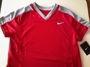 Nike Women's Softball Baseball Jersey Top M Red