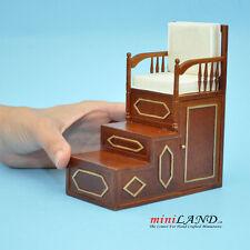Islamic pulpit Minbar steps chair mimber mosque imam dollhouse miniature 1:12