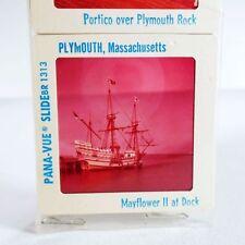 Pana-Vue Vintage Slide MAYFLOWER Plymouth Massachusetts SHIP BOAT Mid 1970's