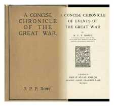 A Concise History of the Great War