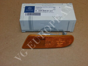 Mercedes-Benz W220 S-Class Genuine Left Side Marker In Bumper Turn Signal Light